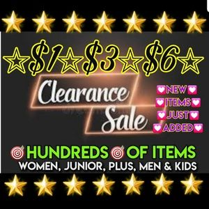 $1💟$3💜$6❤CLEARANCE SALE❤🌟100's of Choices🌟🌟